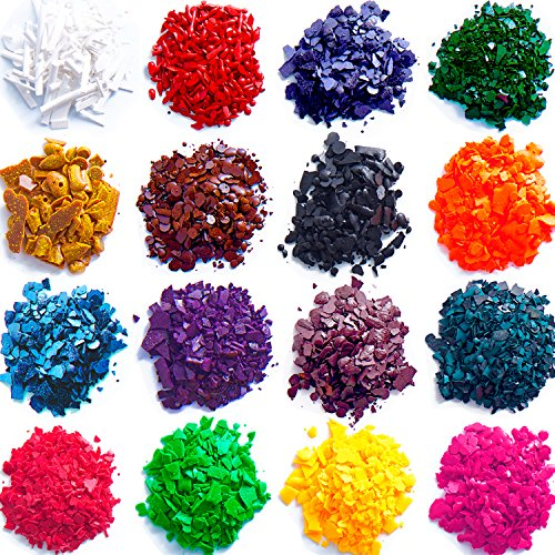 Wax Dye - DIY Candle Dye - Dye Flakes for Candle Making Supplies Kit - Soy Dye for Candle Molds - for Soy Candle Wax Kit - for Hemp Candle ()