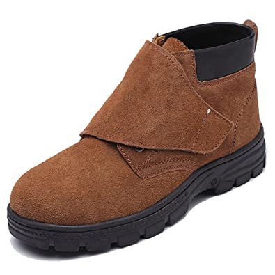 c2ca07d4f98 MAIERNISI JESSI Safety Shoes Suede Leather Welders Welding Safety Boots