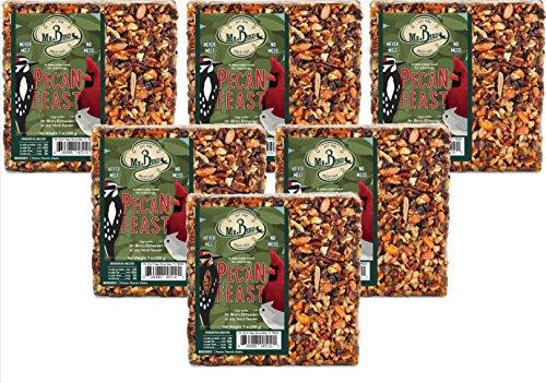- 6-Pack of Mr. Bird Pecan Feast Small Wild Bird Seed Cake 7 oz.