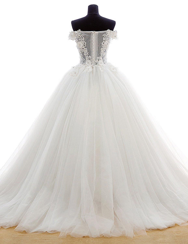 ebf2a943e Amazon.com  vimans Women s Lace Applique Formal Party Gowns Off ...