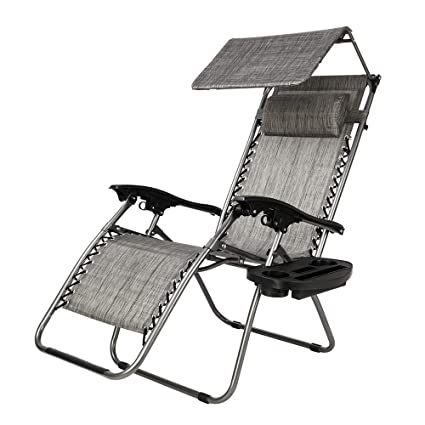 Strange Tenozek Folding Beach Lounge Chair Portable Outdoor Zero Gravity Chair Camping Recliner With Cup Holder And Headrest Gray Forskolin Free Trial Chair Design Images Forskolin Free Trialorg