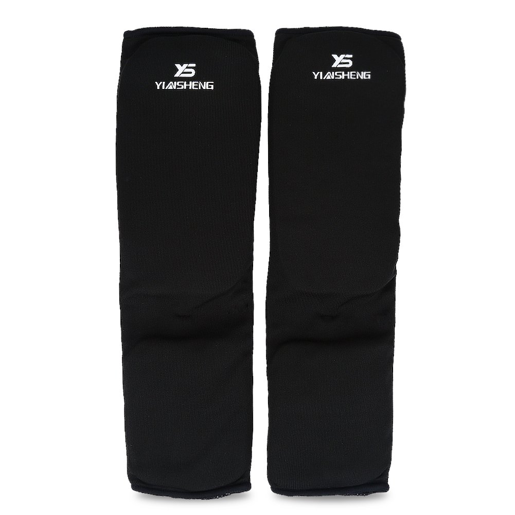 1 Pair Boxing Leg Protector, Leg Ankle Support Pad for Kickboxing (Black,L) VGEBY