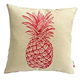 Monkeysell Stylish Colorful cartoon Pineapple hand-painted figure linen Review and Comparison