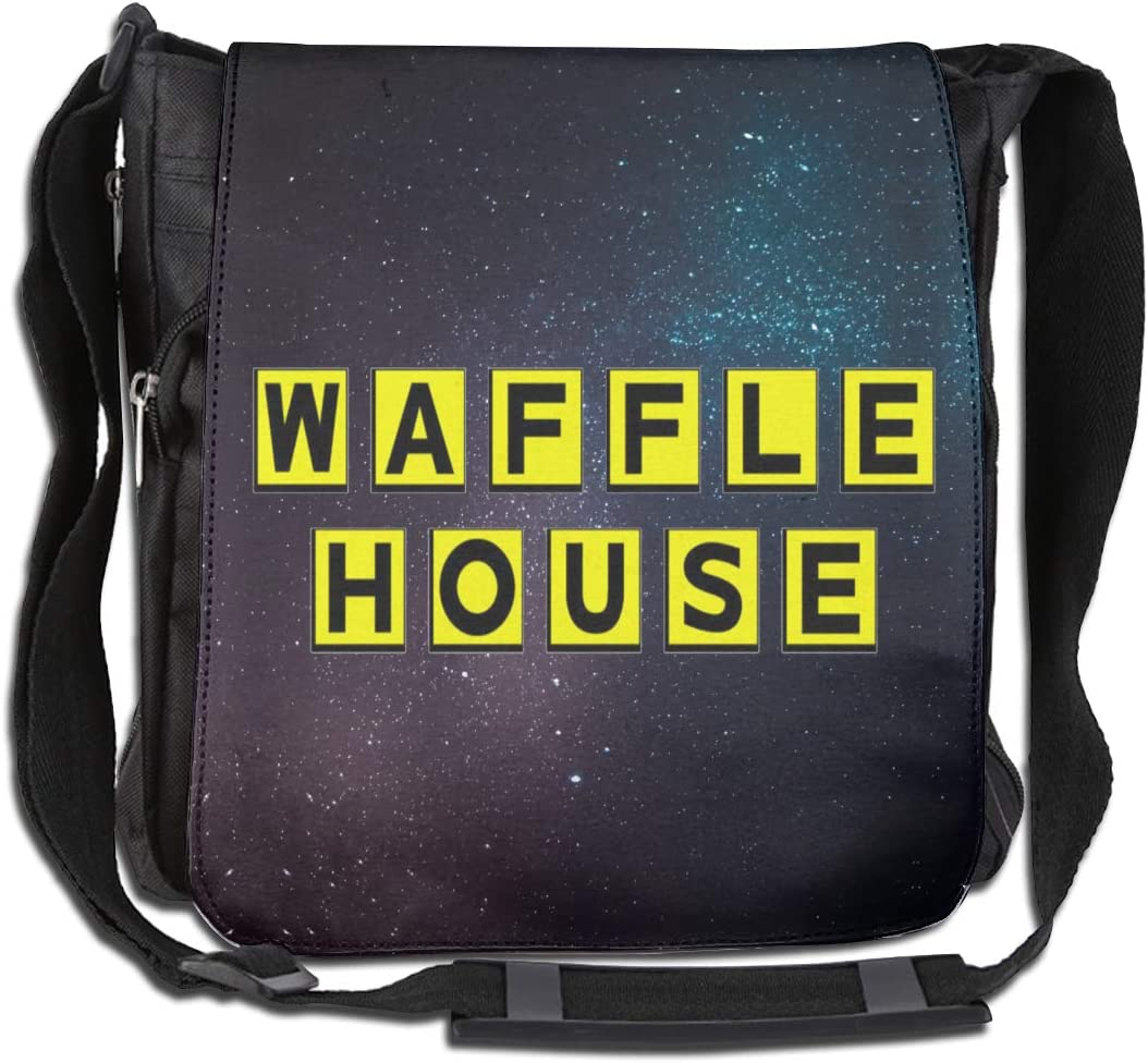 Edmundy Waffle House Crossbody Single Shoulder Bag for Women /& Men Handbags,11.8x11.8.