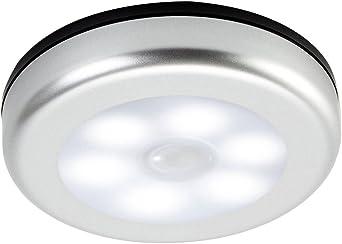 FlowersSea Luz LED Sensor Movimiento Pilas para Armario Pasillo Baño Escalera Garaje Cuarto sin Cable Lámpara Nocturna Luces de Noche Blanco (Fría): Amazon.es: Iluminación