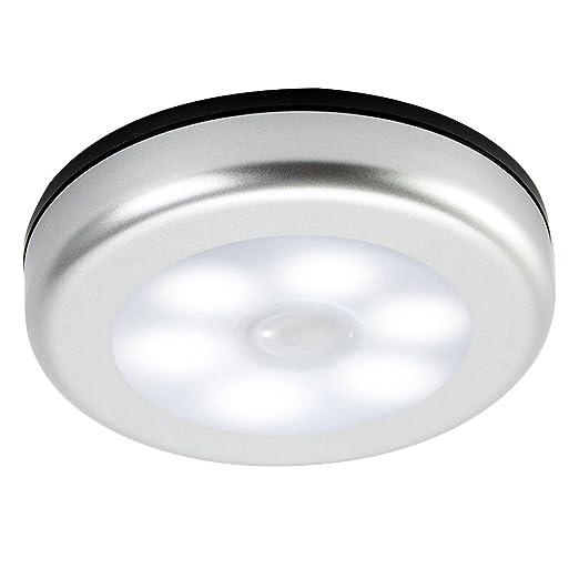 FlowersSea Luz LED Sensor Movimiento Pilas para Armario Pasillo Baño Escalera Garaje Cuarto sin Cable Lámpara
