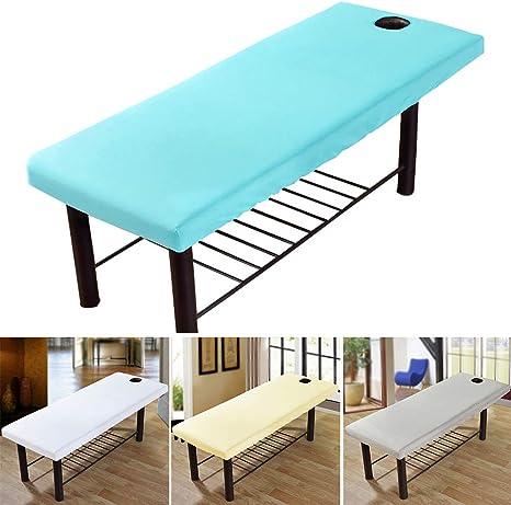 enveloppe de polyester /élastique tout autour Couverture de canap/é pour spa avec trou-70x190cm drap de table de massage doux professionnel Housse de table de massage,drap de lit de massage