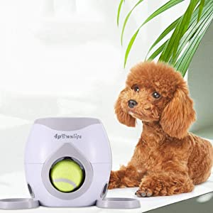Interactive Training Toy,Dog Feeder, Dog Ball Fetch and Interactive Food Reward Dispenser,Treat Toy Tennis Ball Reward Machine for Dogs, Interactive Dog Toys(NOT A Launcher)