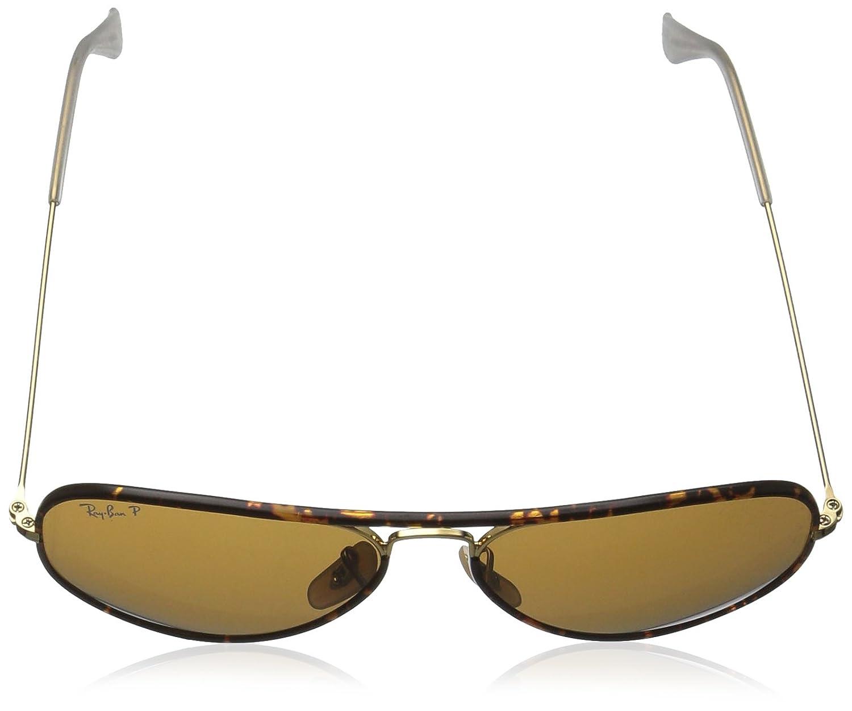 Amazon.com  Ray-Ban Aviator Full Color Polarized Sunglasses, Arista, 58 mm   Ray-Ban  Clothing 7f276628d188