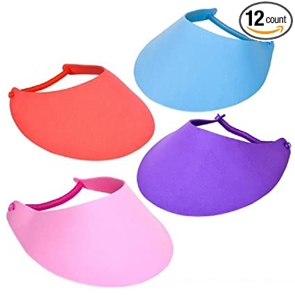 Amazon.com  Rhode Island Novelty 12 Foam Visors with Coil Bands ... 608dbcec971
