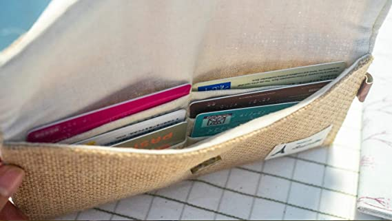 Amazon.com: Handmade Hemp Minimalist Wallet Thin Wallet Coupon Holder Long Wallet Billetera Womans Wallet Billeteras De Mujer Carteras Para Mujer: Clothing