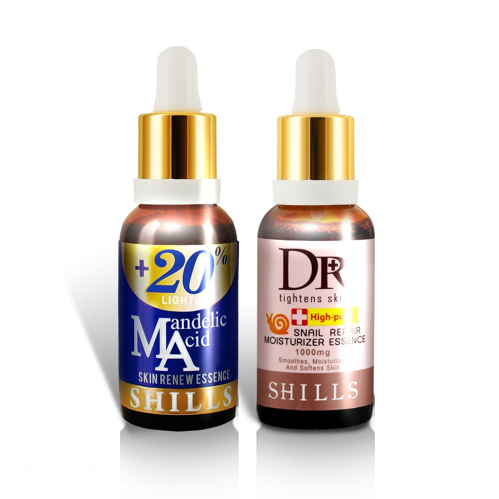 Mandelic Acid and Snail face Serum- Remove Acne and Wrinkles.Anti Aging Brightening 60ml (2 bottles)