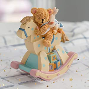 LOVE FOR YOU Music Box for Girls,Boy,Baby.Kingdom 18501 Bear on The Rocking Chair Musical Boxes, Best Birthday Gift for Kids/Girls/Children (Canon,Pink and Yellow)