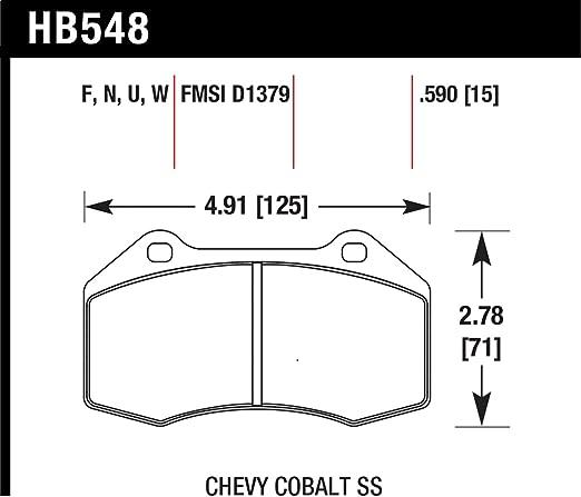 Disc Brake Pad Set-HPS Disc Brake Pad Front Hawk Perf HB548F.590