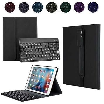 Funda protectora de cuero con teclado para iPad Pro de 10,5 pulgadas con funda