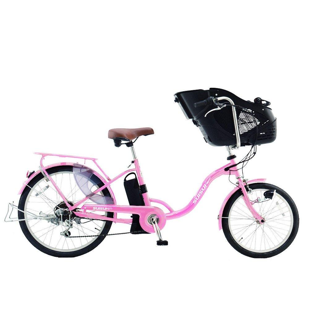 SUISUI 20/24インチ 電動アシスト自転車 チャイルドシートモデル KH-DCY07 マカロンピンク   B00KFAD89K