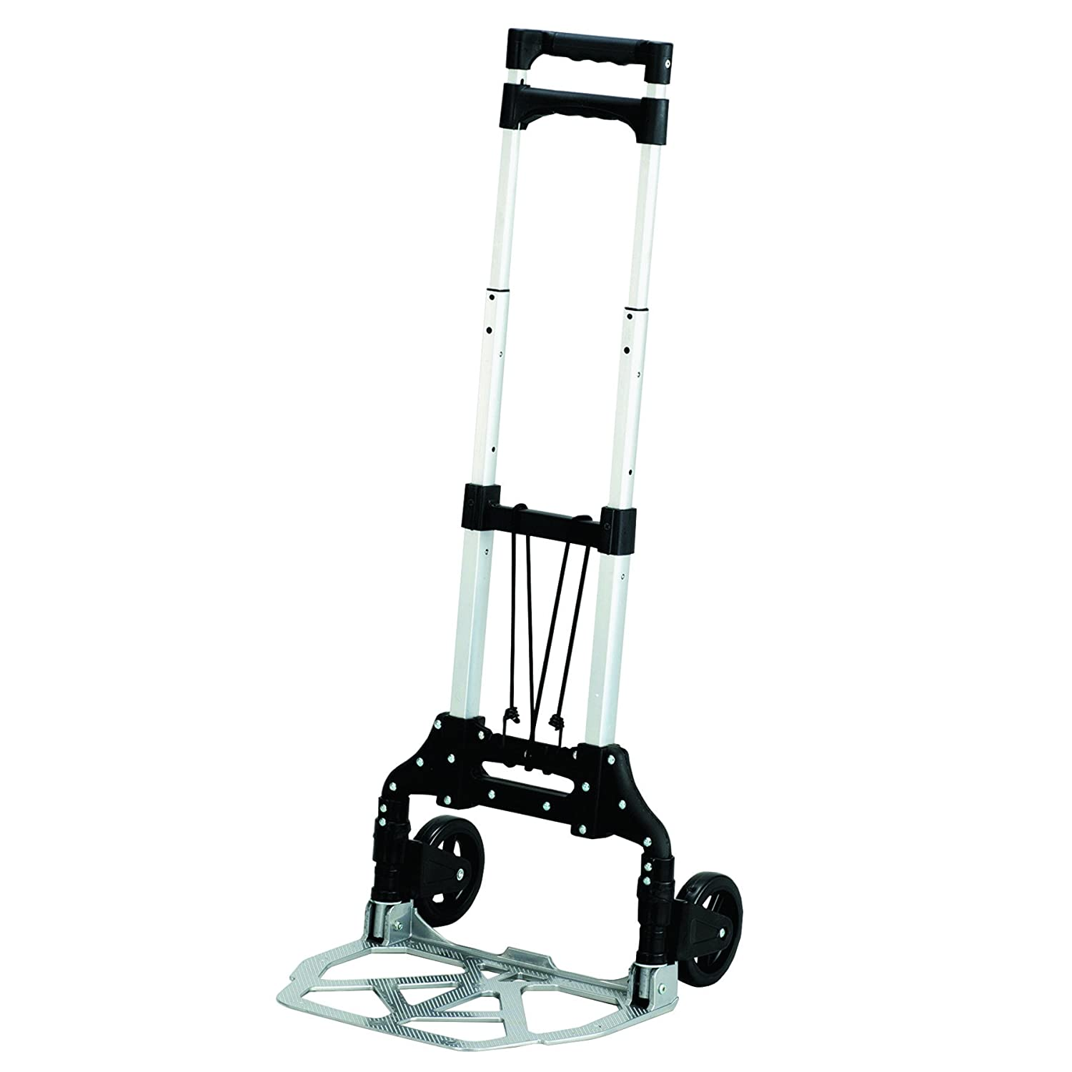 Safco Products 4049NC Stow and Go Utility Hand Truck Silver Black