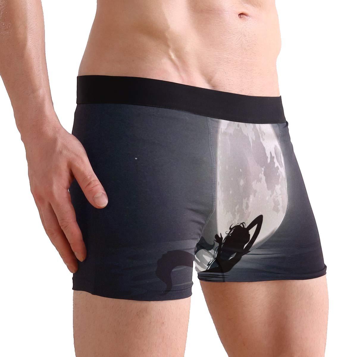 Mermaid Fairy Tale Boxer Briefs Mens Underwear Pack Seamless Comfort Soft