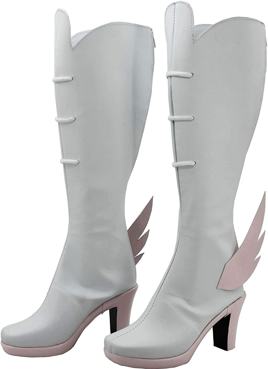 GOTEDDY Women Nonon Cosplay Boots Halloween White Shoes Costume Accessories
