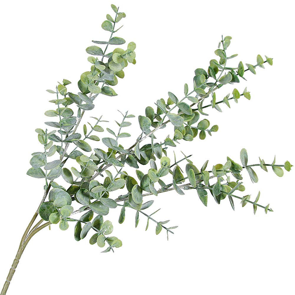 CHoppyWAVE 人工植物 人工ユーカリの葉 3枝 植物 DIYウェディングパーティーホームデコレーション用 グレー パープル 1本 1 グリーン B07H2GBVJD Greyish Green