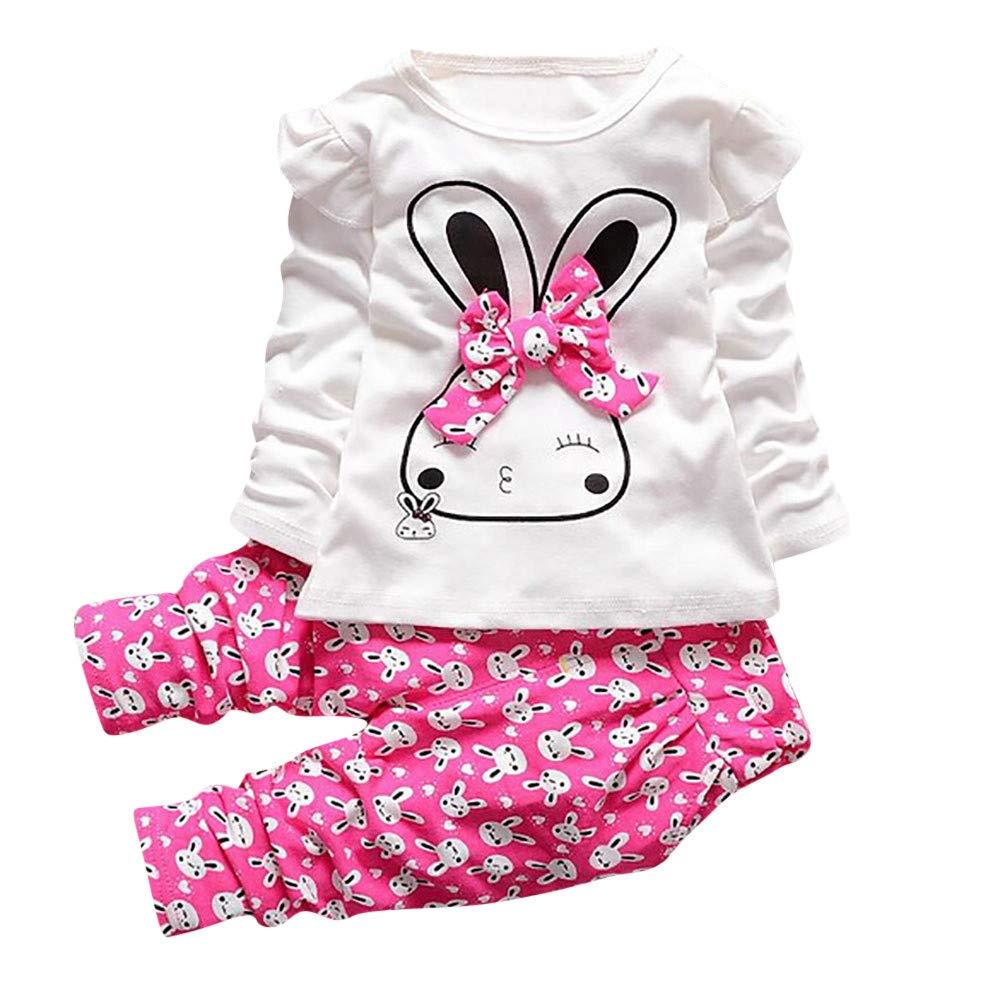 Jarsh Baby Clothes Set PANTS ベビーガールズ 4T(3-4Years old) ホットピンク B07H5JWCQ4