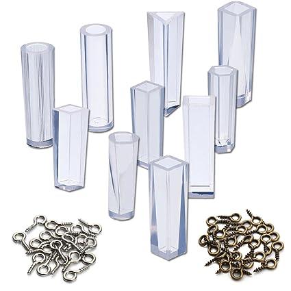Vitasemcepliset - Juego de 10 moldes de silicona y resina para realizar colgantes, dijes y