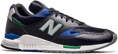 New Balance 840 Zapatillas De Entrenamiento De Color Negro Azul Y Verde 10 5 M Us Shoes