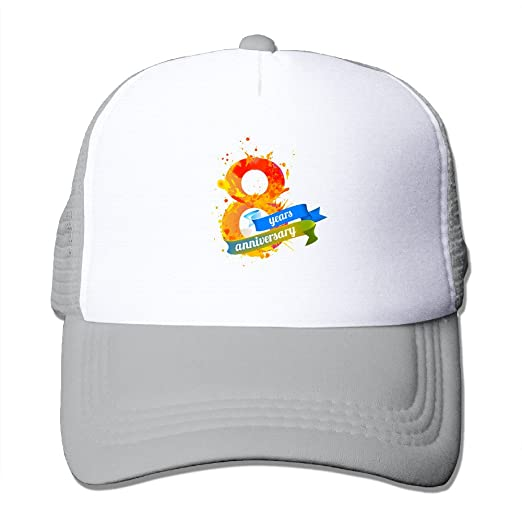 Amazon.com  Zxm 8 Year Anniversary Summer Printed Adjustable Stylish  Personalized Casual Mesh Hats  Clothing 09a6742f1907