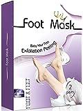 Exfoliating Foot Peel Mask - Deep Exfoliation, Feet Mask for Calluses, Feet Peel Repairing Dead Skin Cells, 1 Pack Foot Peel Mask, 2 Pairs Feet Mask