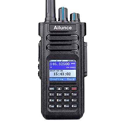 Ailunce HD1 DMR Radio Dual Band Waterproof 2 Way Radio 3000 Channels 200000  Contacts with 3200mAh Battery Dual Time Slot FM Broadcast DTMF LCD