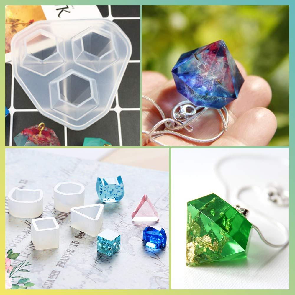 Earring 14 Pcs Resin Molds LETS RESIN Resin Jewelry Molds Bracelet Resin Casting Molds for Jewelry Making including Pendant Diamond Molds UV Resin Resin Silicone Molds for Epoxy Resin