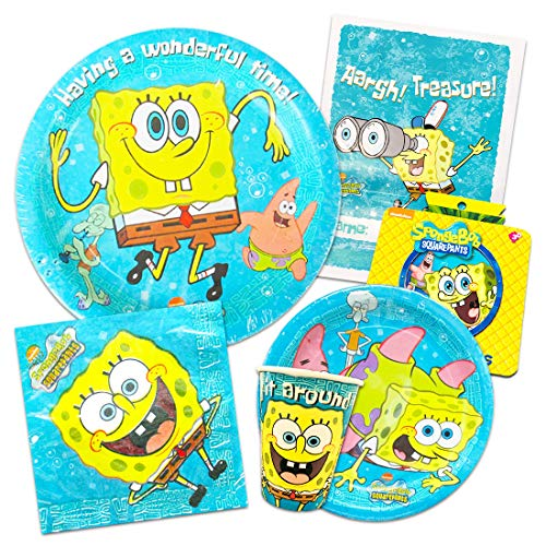 Spongebob Squarepants Party Supplies Ultimate Set ~ Birthday Party Decorations, Party Favors, Plates, Cups, Napkins, and More (Spongebob Party Supplies)
