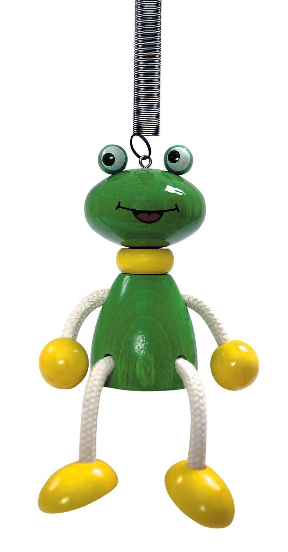 Schwingtier Frosch aus Holz ca 9,5 cm Hess Holzspielzeug 14700