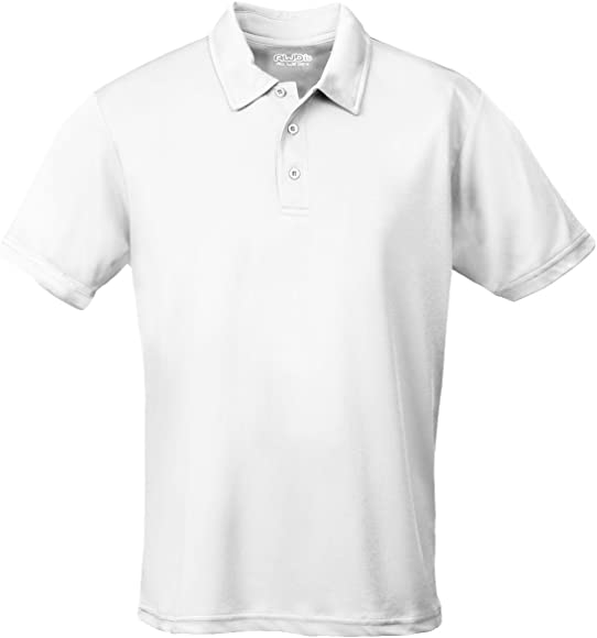 a414e995 AWD Just Cool Breathable Cool Polo Shirt Arctic White S: Amazon.co ...