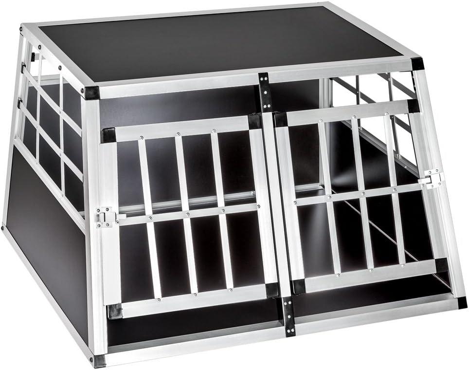 TecTake Transportín de Aluminio para Perros - Varias tamaños - (89x69x50cm | no. 400549)