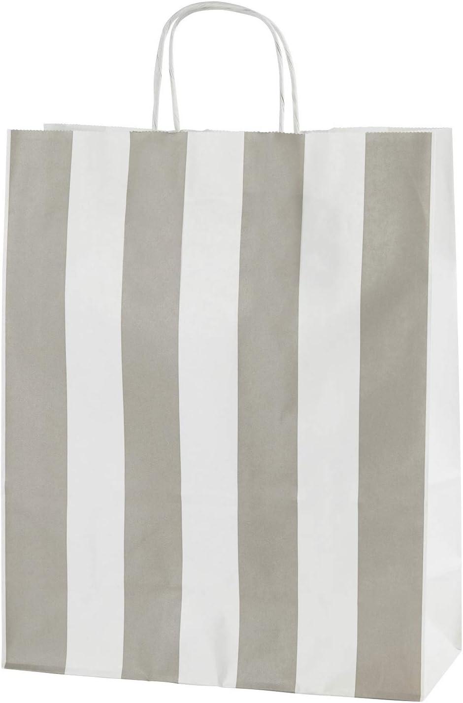 Rouge 10 sacs en papier qualit/é premium avec poign/ées Taille 250x110x310mm