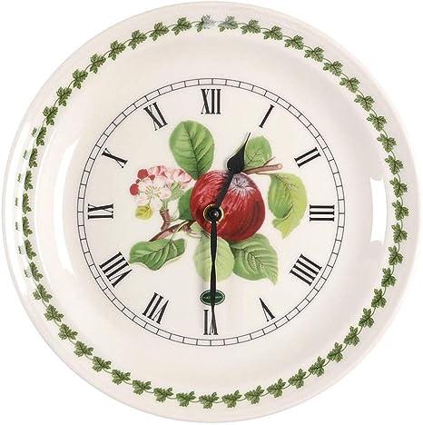 Amazon Com Portmeirion Pomona Red Apple Wall Clock 25cm Kitchen Dining