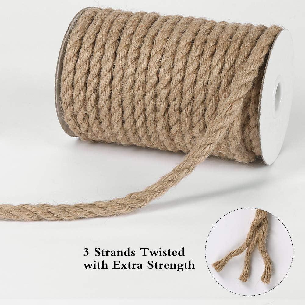 jardinage assemblage et d/écoration artisanale Marron Tenn Well Corde de jute torsad/ée /épaisse 5 mm pour griffoir