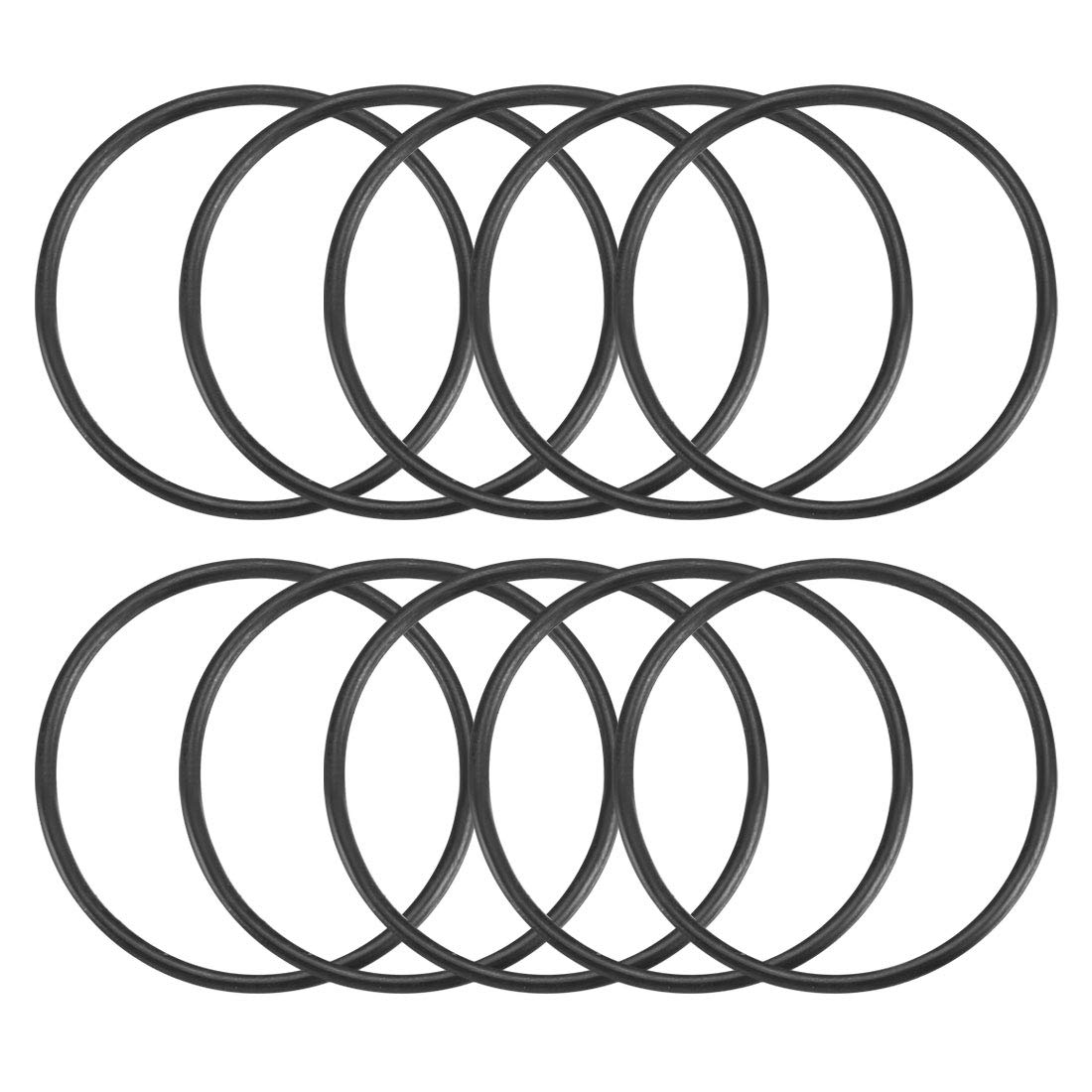 NBR 70A Shore Hardness Black Nitrile 36mm x 3mm 42mm OD Pack of 20 Rubber Metric O-Rings