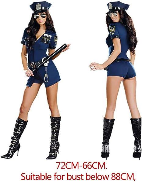 YARUDRESS Disfraz De Mujer Policía Sexy De Policía, Vestido De ...