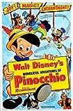 Vintage Disney Pinocchio Movie Poster A3 Print