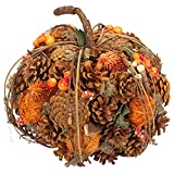 Cheap Boston International Pumpkin Patchwork Autumn Multicolored 9 x 9 Hand-Crafted Collectible Figurine