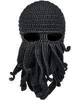 Vbiger Beard Hat Beanie Hat Knit Hat Winter Warm Octopus Hat Windproof Funny for Men & Women