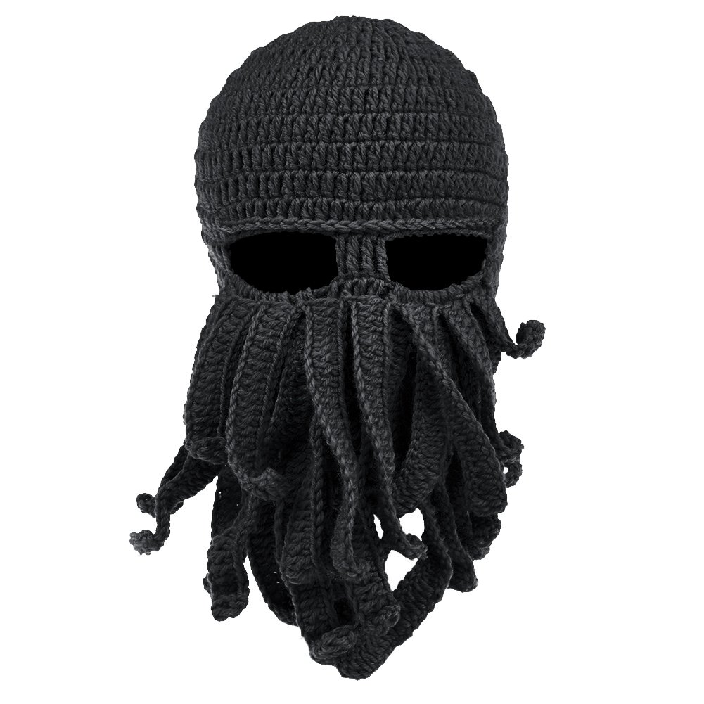 VBIGER Beard Hat Beanie Hat Knit Hat Winter Warm Octopus Hat Windproof Funny