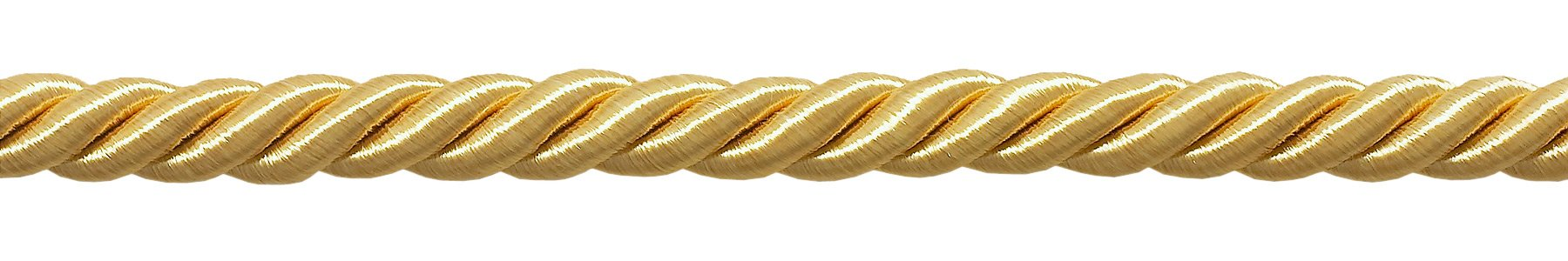 32.5 Yard Package of 3/8 inch Large Light Gold Color Decorative Cord, Basic Trim Collection, Style# 0038NL Color: B7 (98 Ft.) by DÉCOPRO