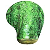 Mousepad with Wrist Support Deep In The Forest Thick Green Vegetation Tree Nature Memory Foam Mouse Pad