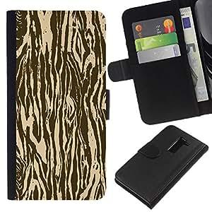 """Be-Star la tarjeta de Cr¨¦dito Slots PU Funda de cuero Monedero caso cubierta de piel Para LG G2 D800 ( Zebra Madera Animal Patr¨®n de Brown"""" )"""