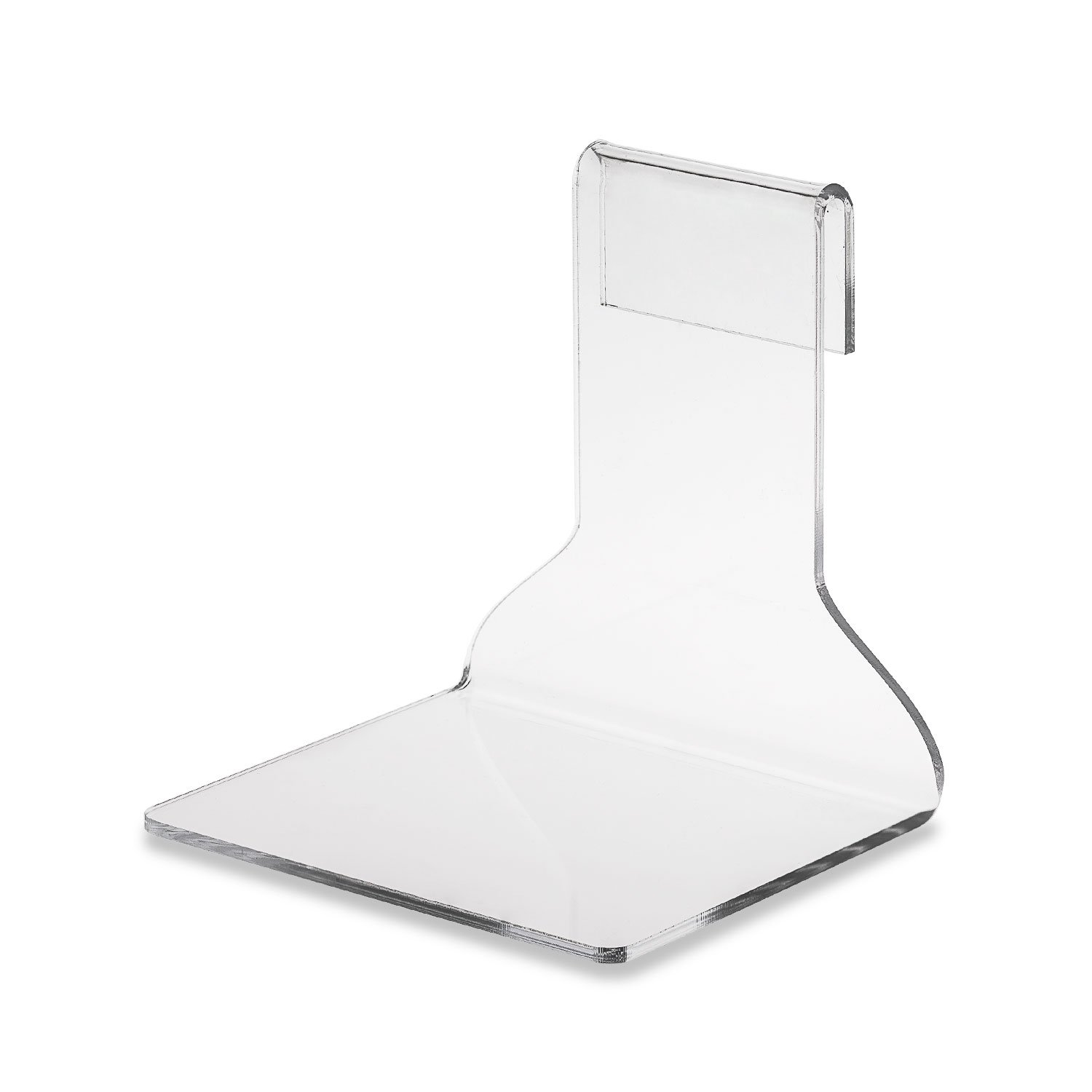 Source One Clear Acrylic Gridwall Shelf Displays 4.5 Inch & 6 Inch Wide Available Perfect for Displays (6 Pack, 4.5 Inch Wide)