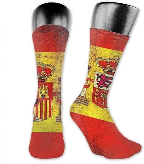 rouxf Calcetines Deportivos Bandera de España (2) Medias Cortas de Tubo Deportivo para Hombres y Mujeres: Amazon.es: Deportes y aire libre