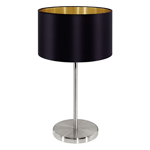 Maserlo table lamp shade colour black gold amazon lighting maserlo table lamp shade colour black gold aloadofball Image collections